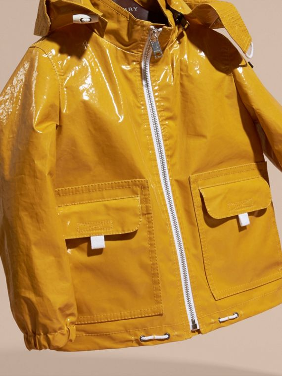 Glossy Showerproof Jacket with Detachable Hood - cell image 2