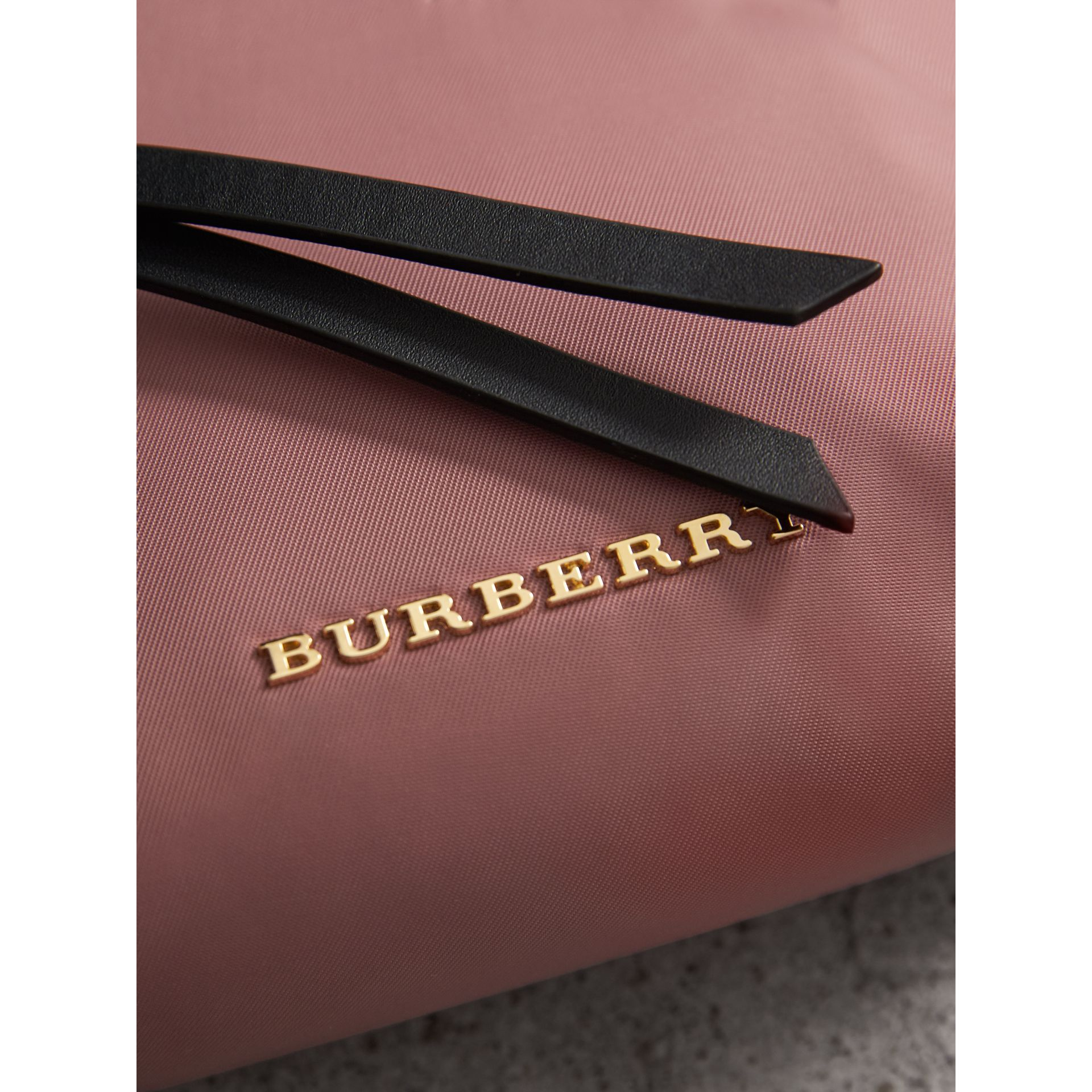 Small Zip-top Technical Nylon Pouch in Mauve Pink - Women | Burberry - gallery image 2
