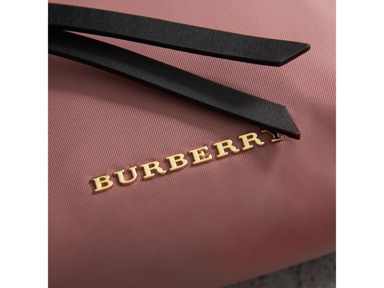 Small Zip-top Technical Nylon Pouch in Mauve Pink - Women | Burberry United Kingdom - cell image 1