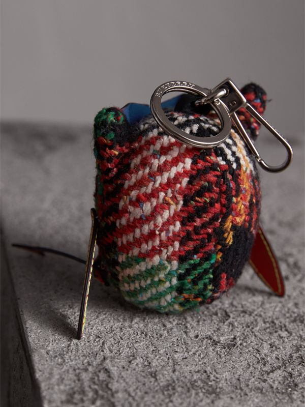 Mavis The Owl Wool Silk Blend Charm in Cornflower Blue | Burberry - cell image 3