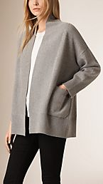 Cashmere and Cotton Blend Shawl Cardigan