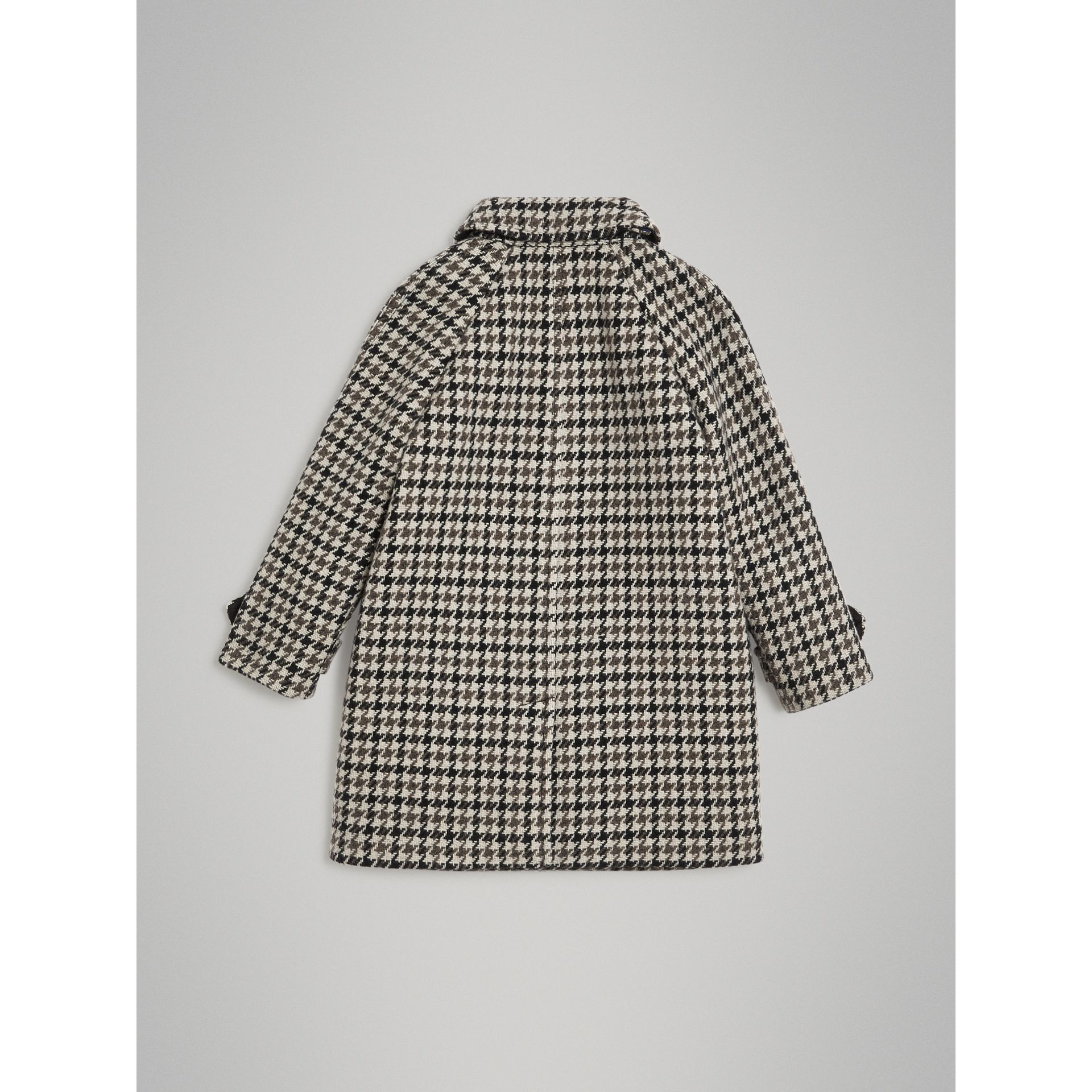 Houndstooth Check Wool Cashmere Blend Coat in Mid Grey | Burberry - gallery image 3
