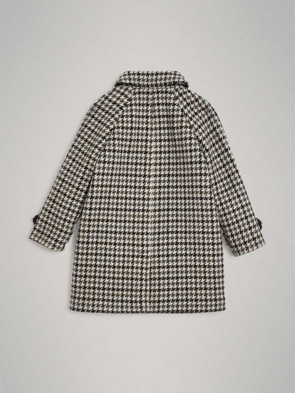 Houndstooth Check Wool Cashmere Blend Coat in Mid Grey | Burberry Hong Kong - cell image 3