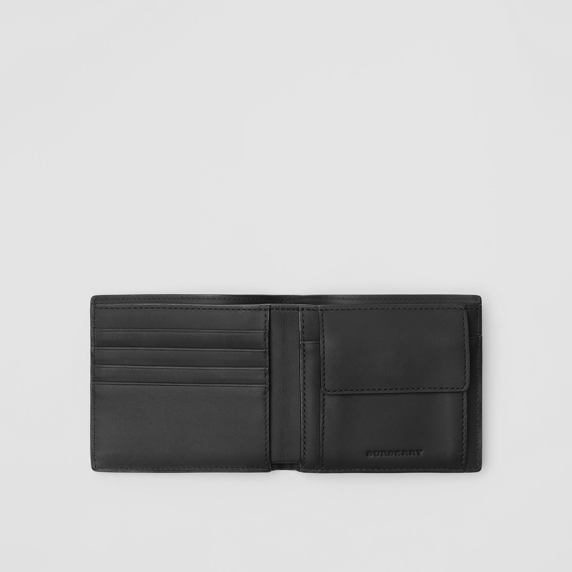 London Check International Bifold Coin Wallet in Charcoal/black - Men | Burberry Hong Kong - gallery image 2