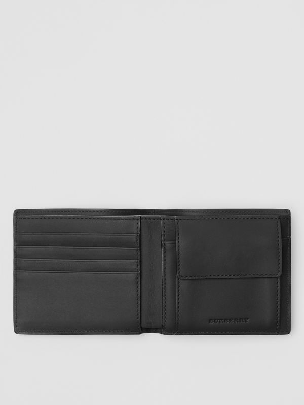 London Check International Bifold Coin Wallet in Charcoal/black - Men | Burberry Hong Kong - cell image 2