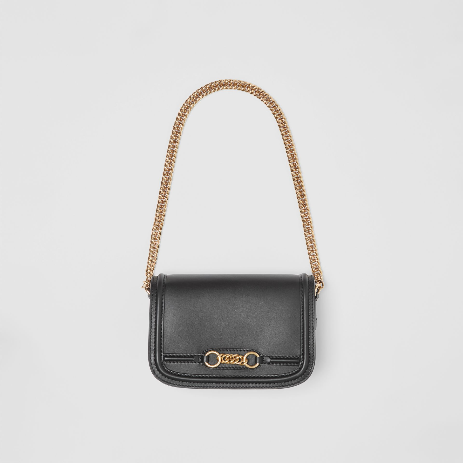 The Leather Link Bag in Black - Women | Burberry - gallery image 4