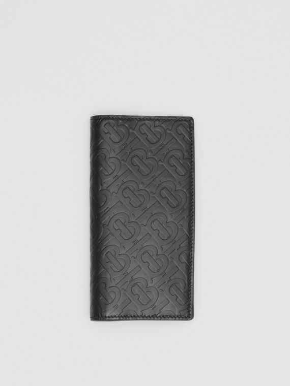 Monogram Leather Continental Wallet in Black