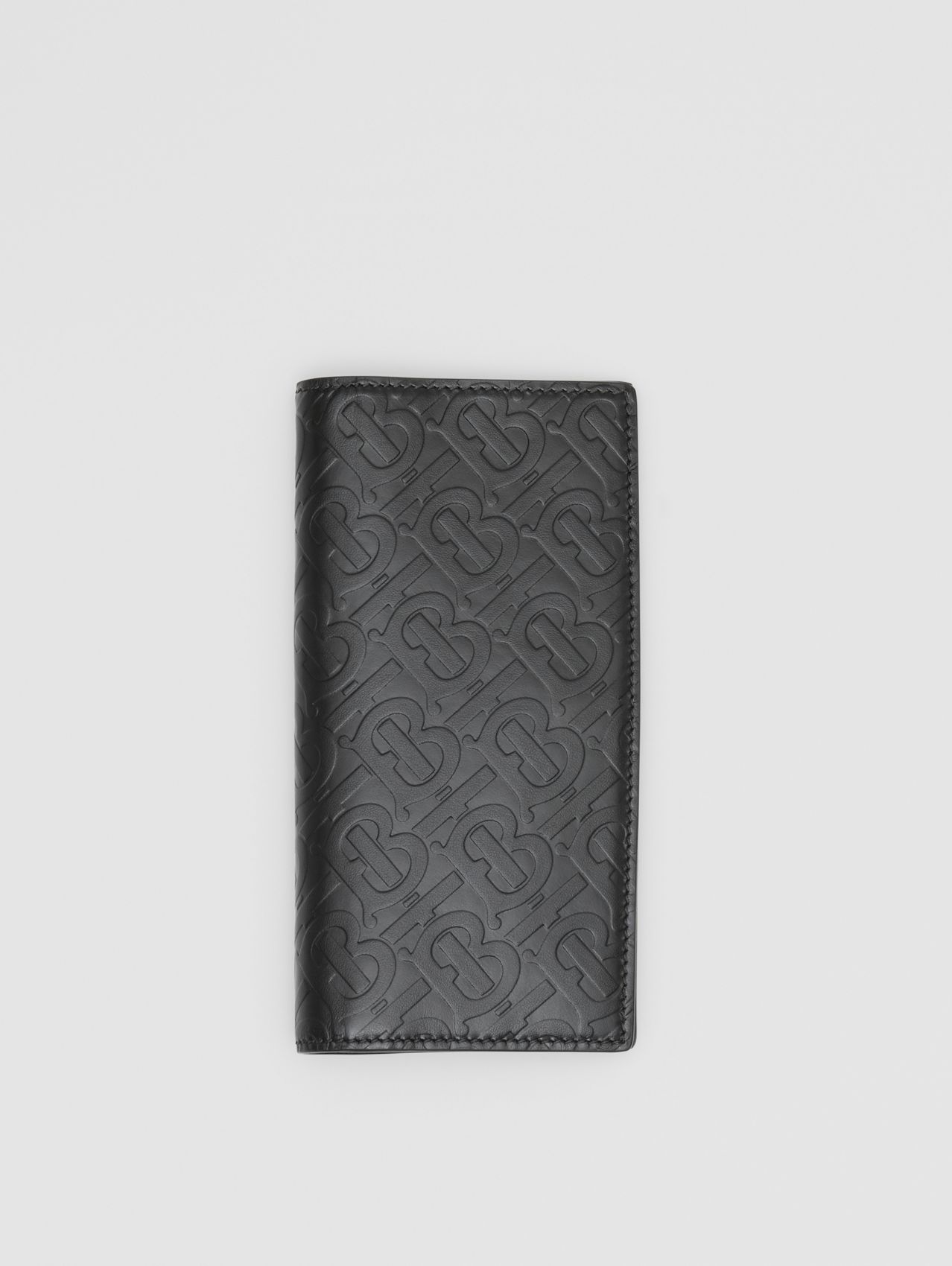 Monogram Leather Continental Wallet (Black)