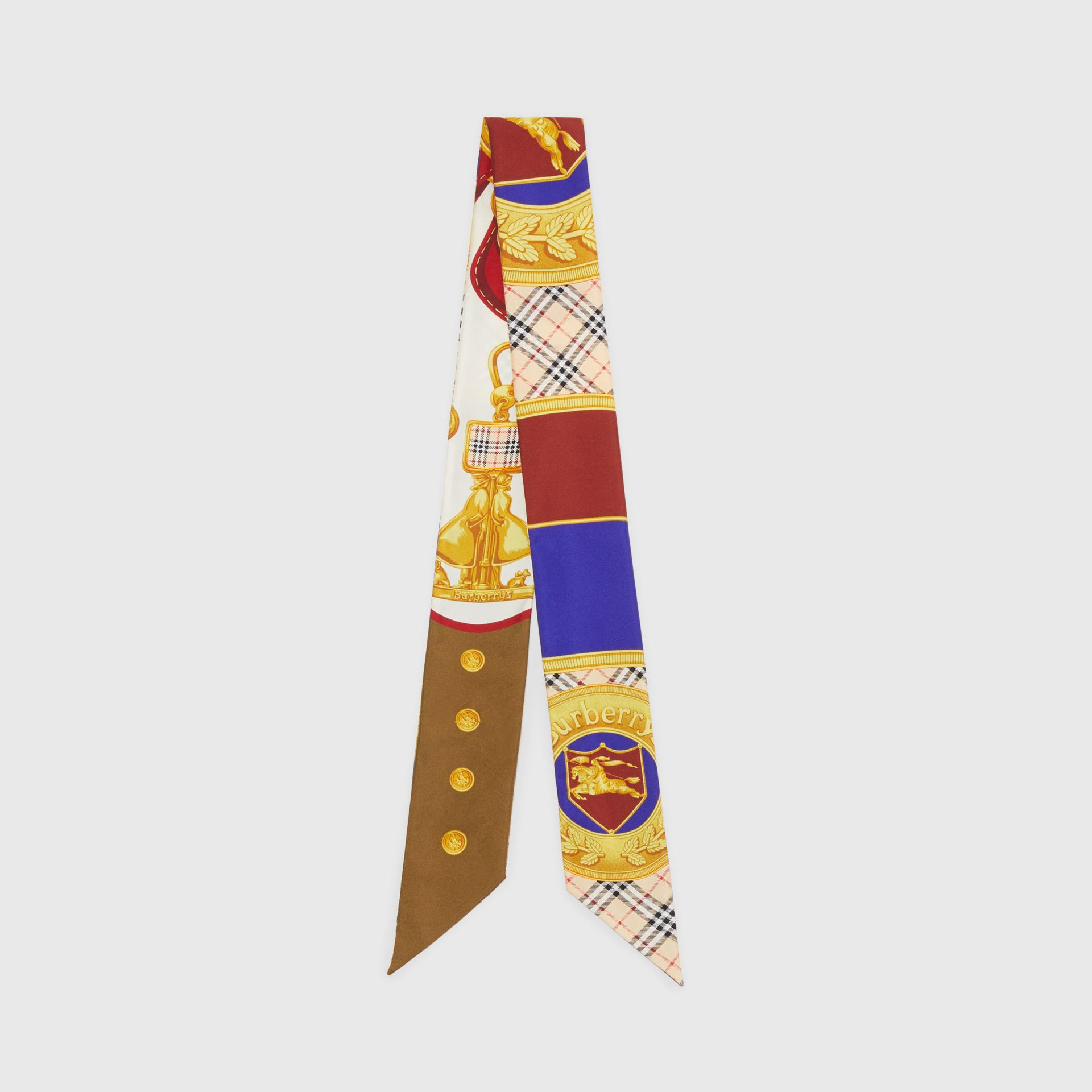 Archive Scarf Print Silk Skinny Scarf in Multicolour | Burberry - gallery image 0