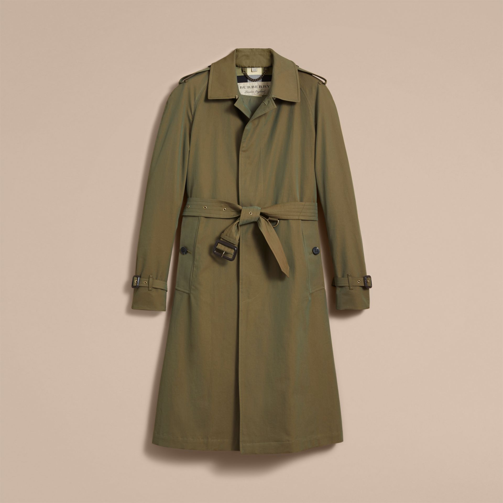 Oversize Storm Shield Tropical Gabardine Trench Coat - gallery image 4