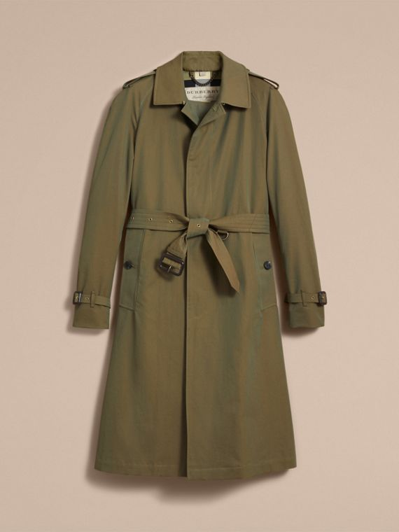 Oversize Storm Shield Tropical Gabardine Trench Coat - cell image 3