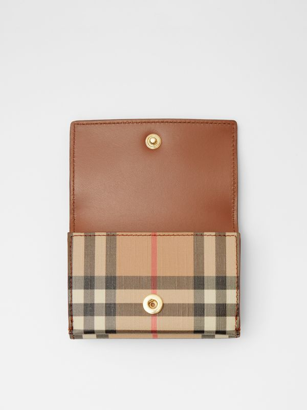 Small Vintage Check E-canvas Folding Wallet in Malt Brown - Women | Burberry - cell image 2