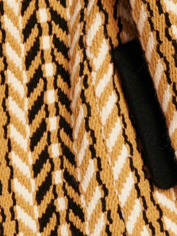 Giallo ocra Il cappotto frangiato - cell image 2