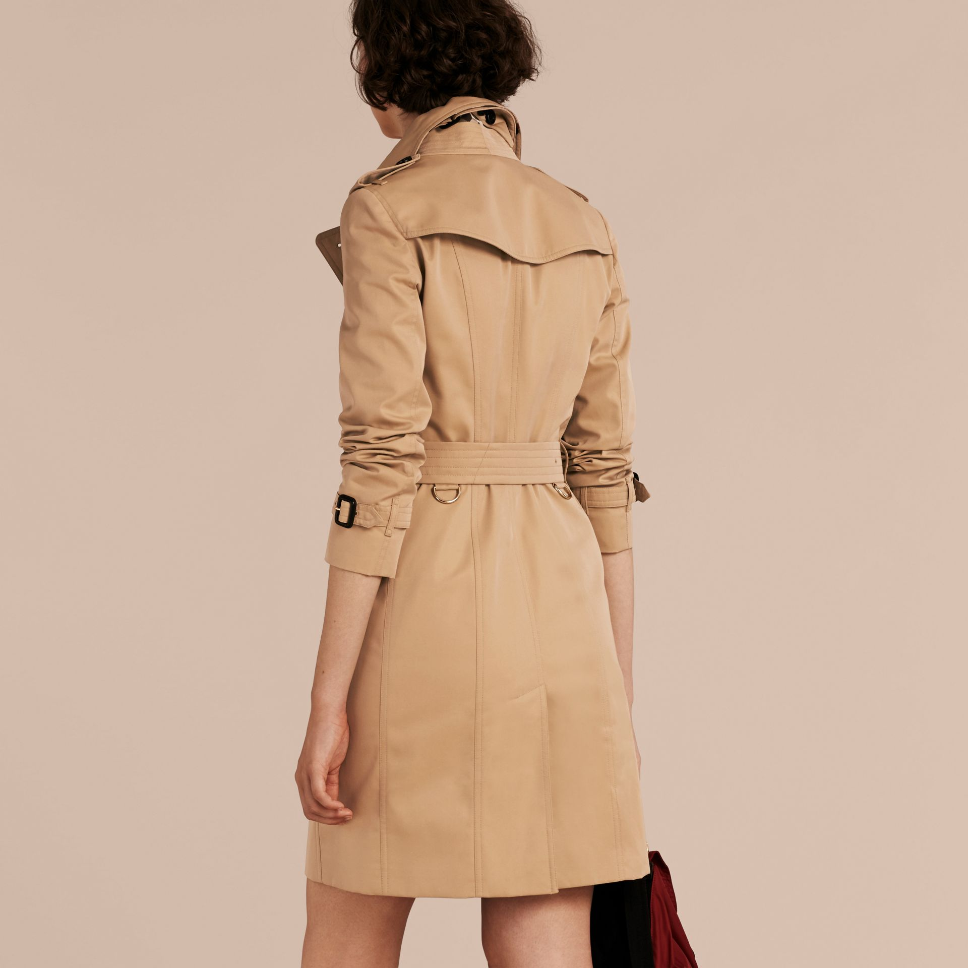 Honey Trench Coat with Check and Heart Lining - gallery image 3