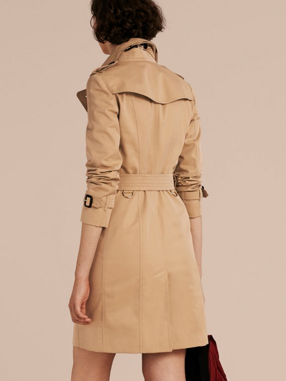 Honey Trench Coat with Check and Heart Lining - cell image 2