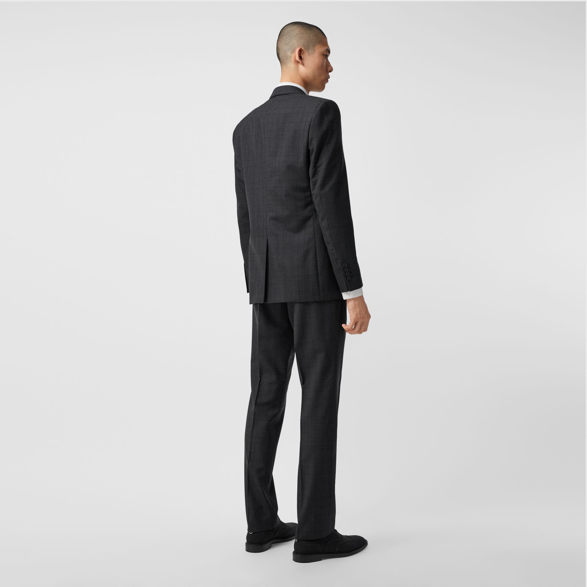 Classic Fit Check Wool Three-piece Suit in Charcoal Melange - Men | Burberry - gallery image 2