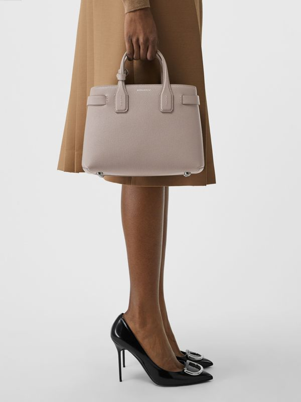 The Small Banner in Leather and Vintage Check in Taupe Brown - Women | Burberry United States - cell image 3