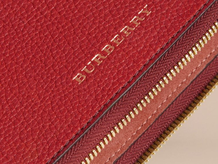 Grainy Leather Tie Case in Parade Red - Men | Burberry - cell image 1