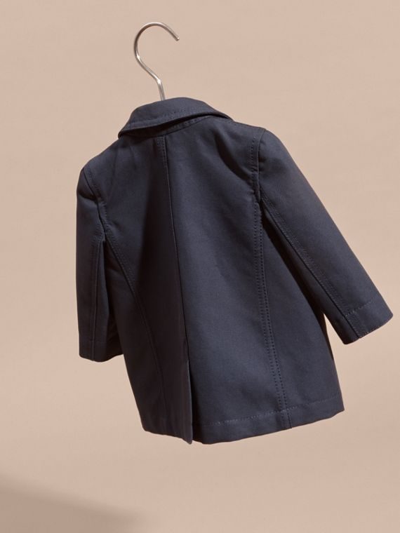 Double-breasted Cotton Pea Coat - cell image 3