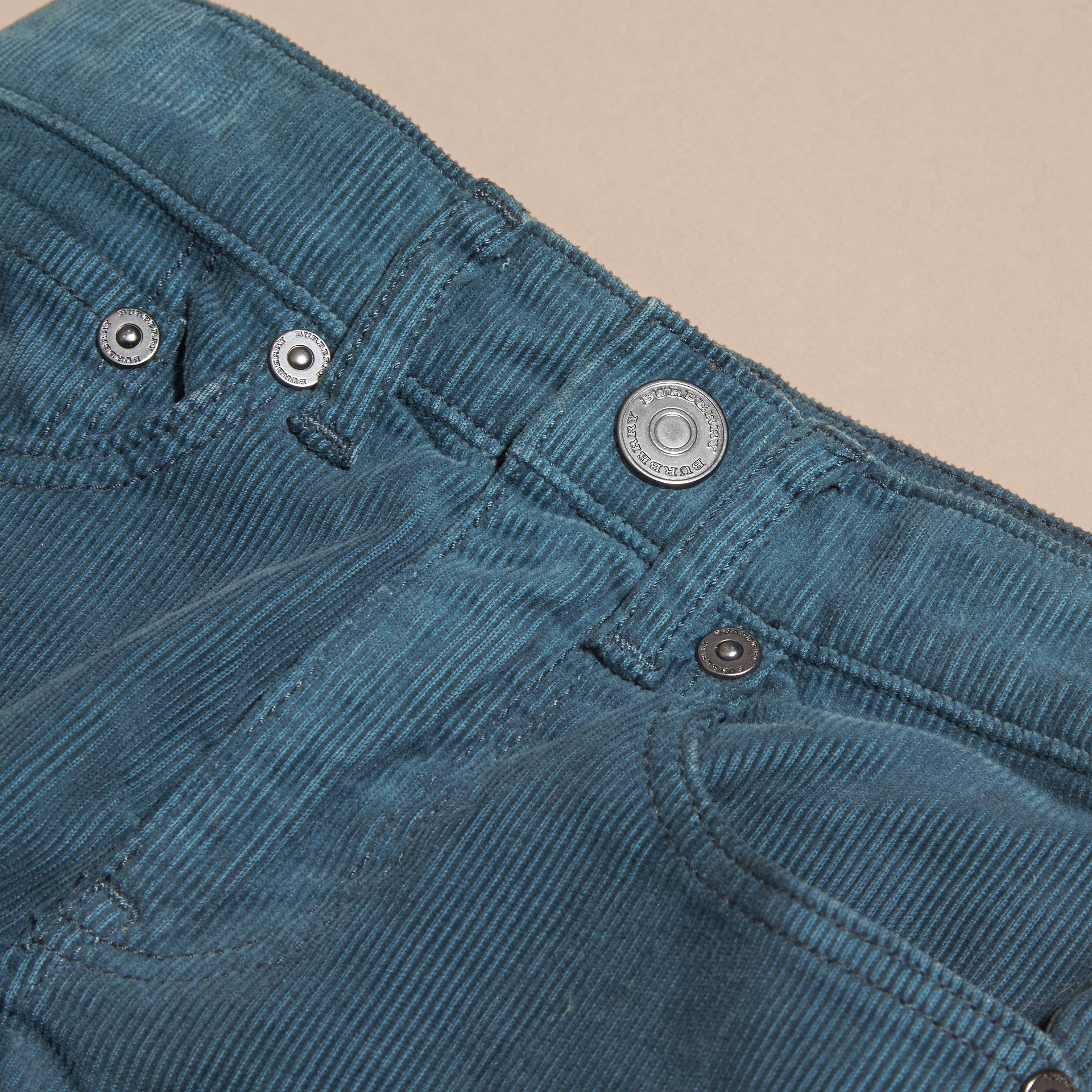 Mineral blue Stretch Corduroy Jeans Mineral Blue - gallery image 2
