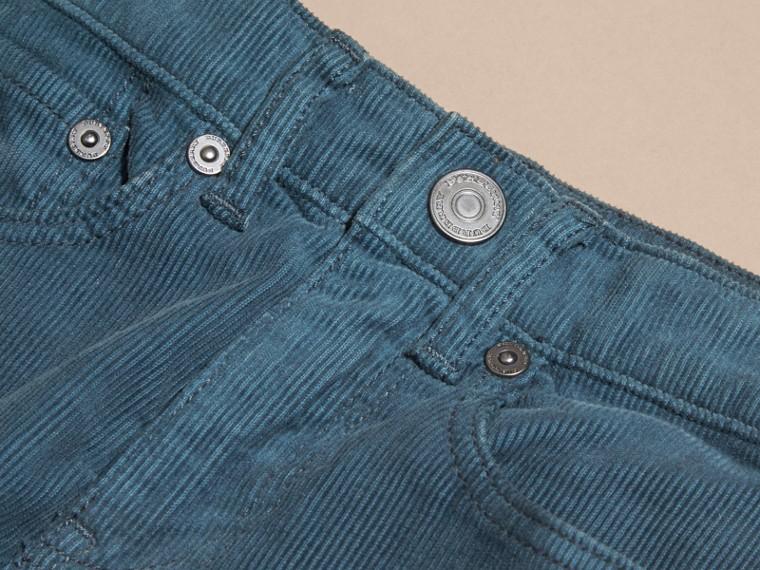 Bleu minéral Jean extensible en velours côtelé Bleu Minéral - cell image 1