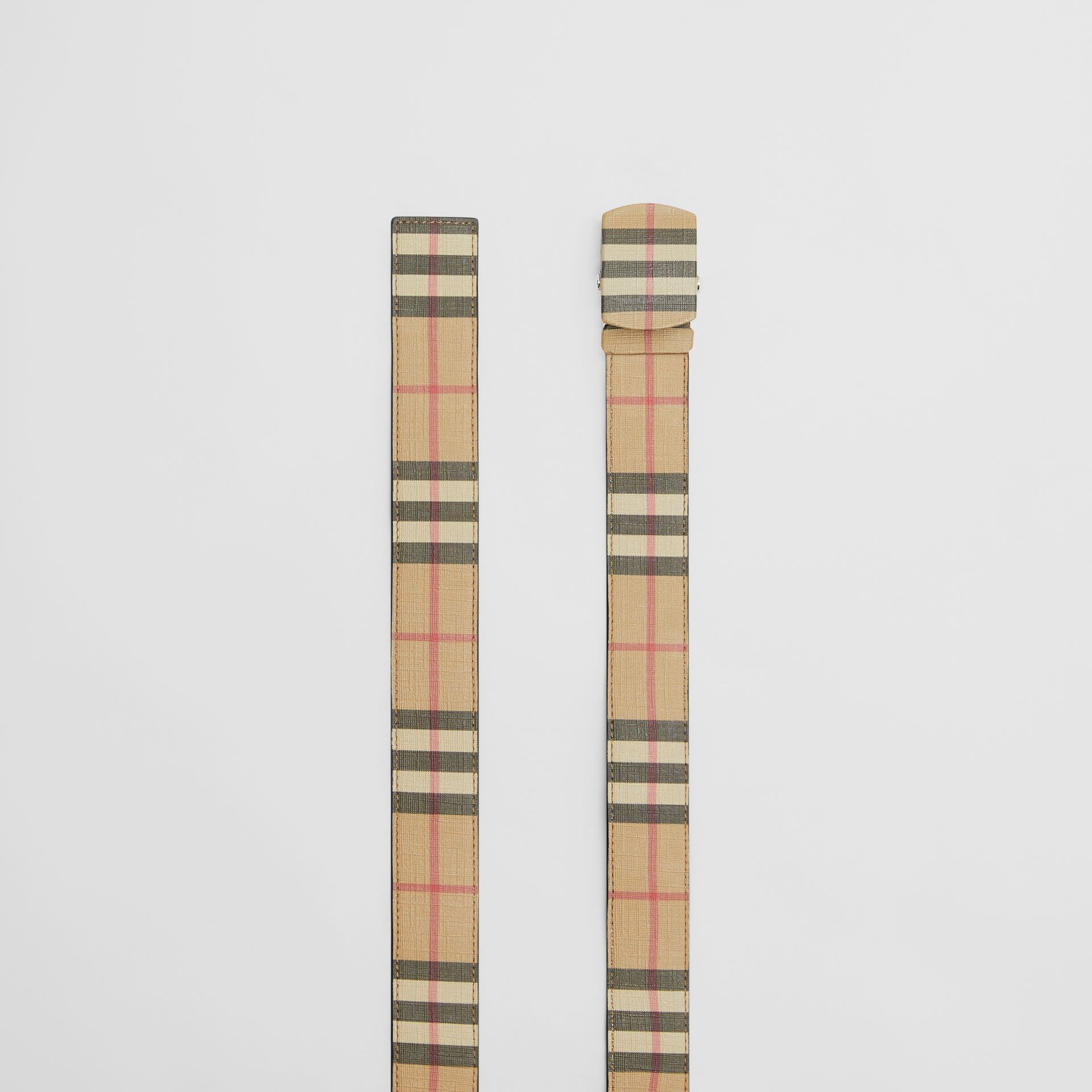 Vintage Check E-canvas Belt in Archive Beige - Men | Burberry - gallery image 5