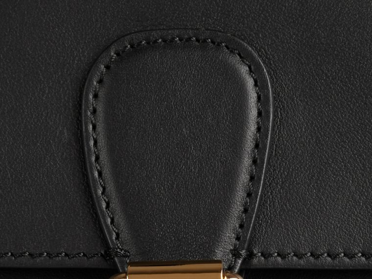 Black The Saddle Clutch in Bonded Leather - cell image 1