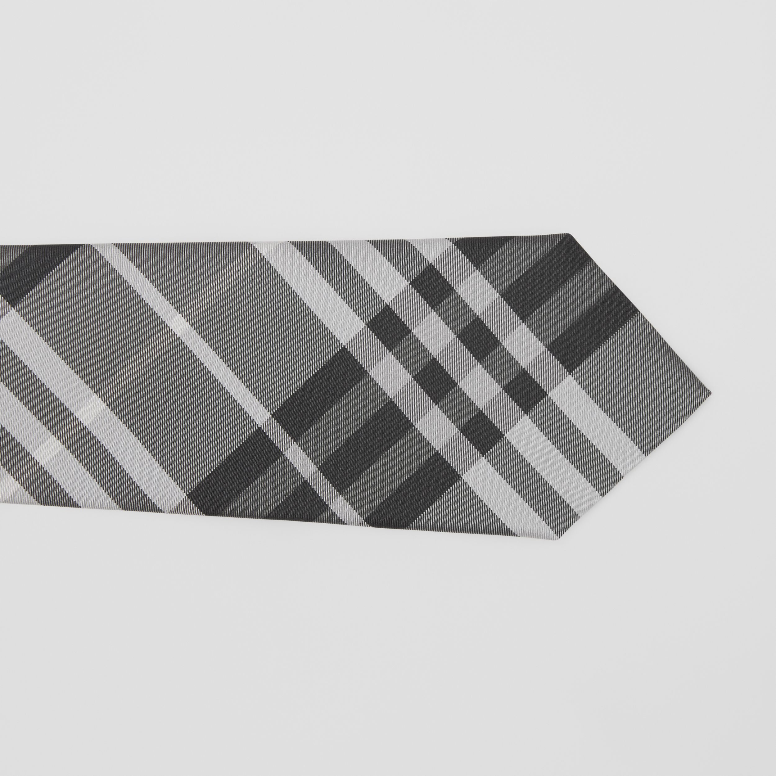 Classic Cut Vintage Check Silk Tie in Mineral Grey - Men | Burberry - 2