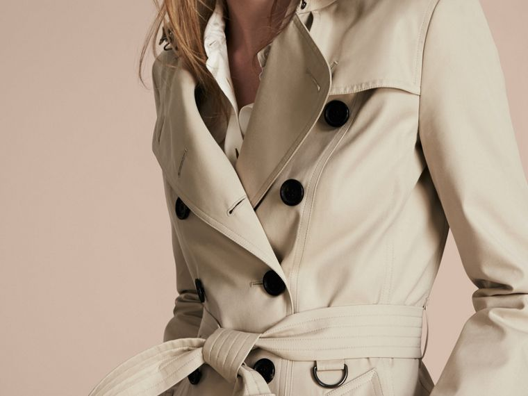 Areia O Chelsea – Trench coat Heritage curto Areia - cell image 4