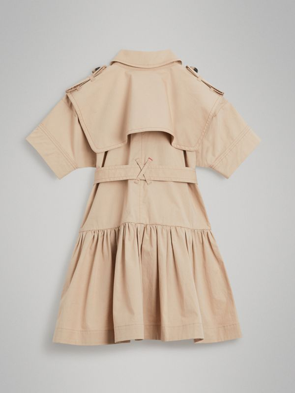 Stretch Cotton Trench Dress in Honey | Burberry United Kingdom - cell image 3