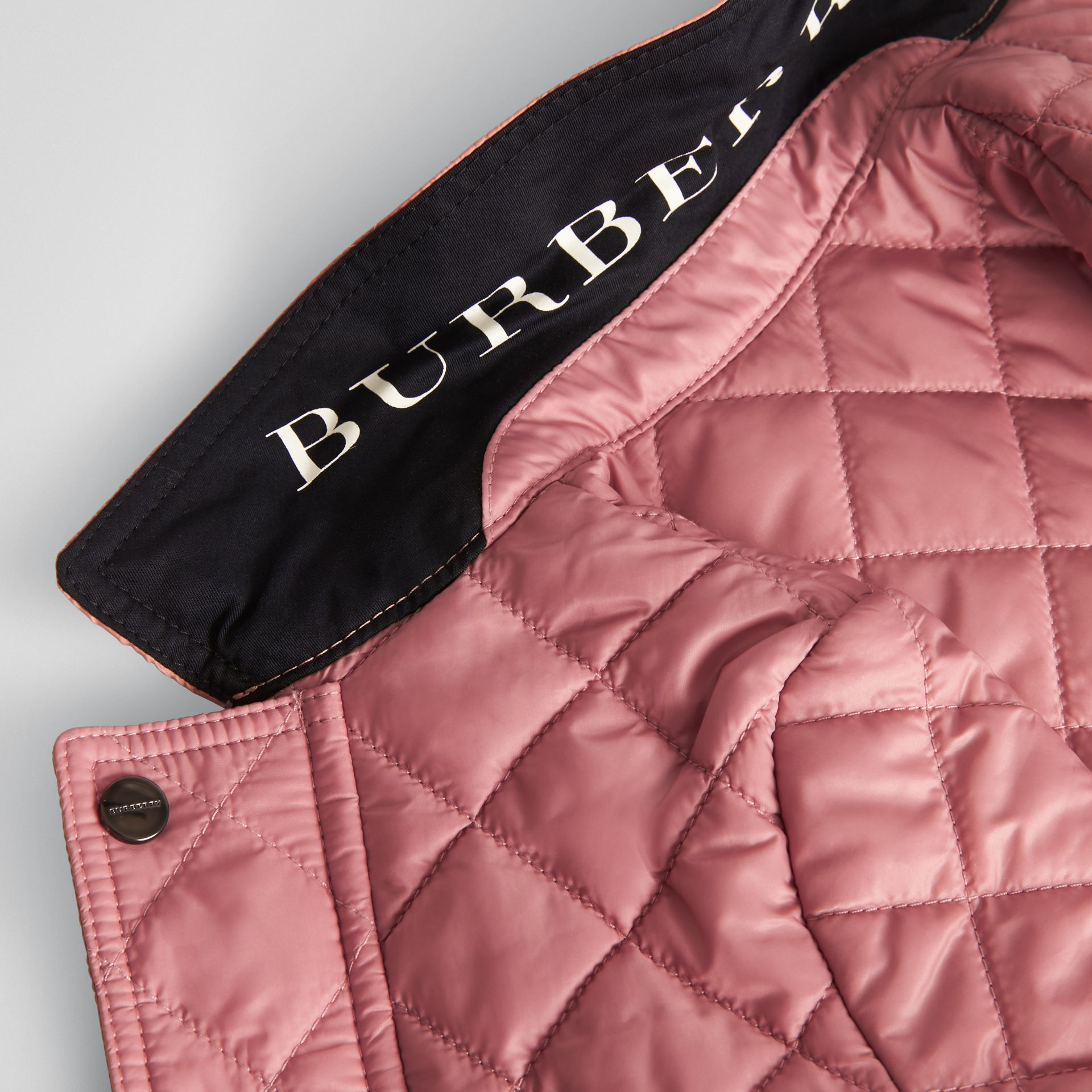 Lightweight Diamond Quilted Jacket in Pale Ash Rose - Children | Burberry - gallery image 1