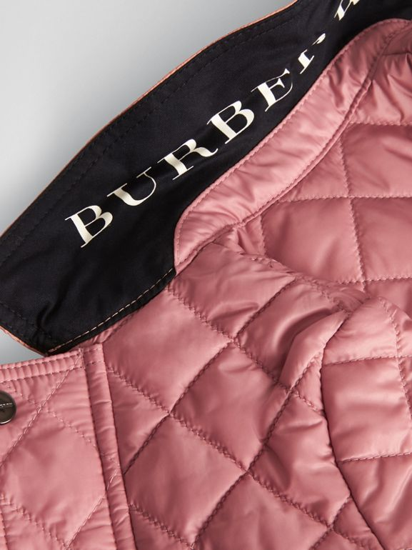 Lightweight Diamond Quilted Jacket in Pale Ash Rose - Children | Burberry Australia - cell image 1