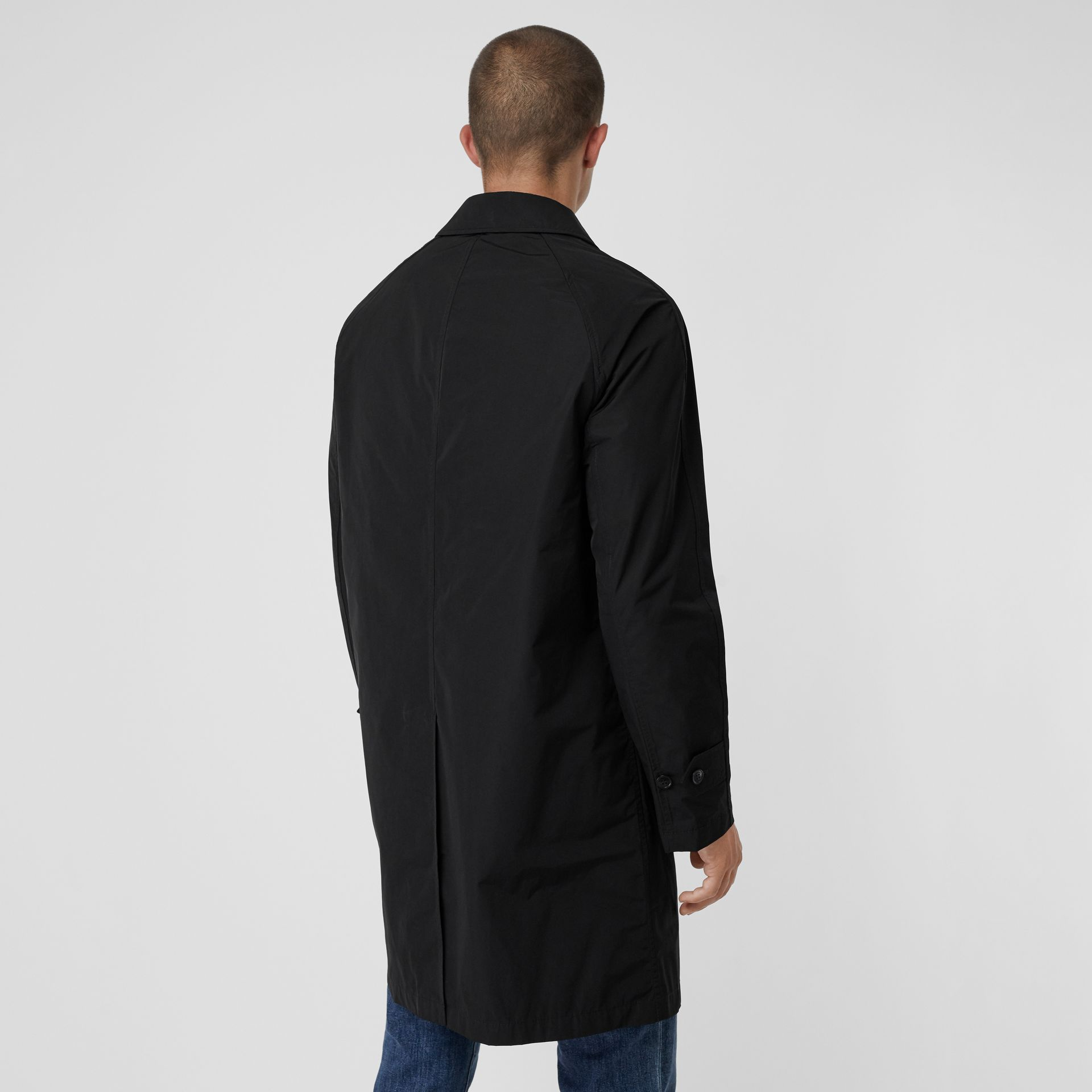 Shape-memory Taffeta Car Coat with Warmer in Black - Men | Burberry Australia - gallery image 2