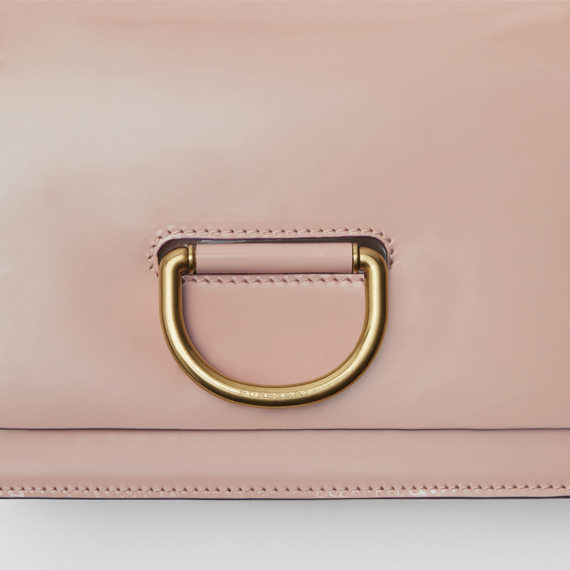 The Small Patent Leather D-ring Bag in Pale Fawn Pink - Women | Burberry United Kingdom - gallery image 1