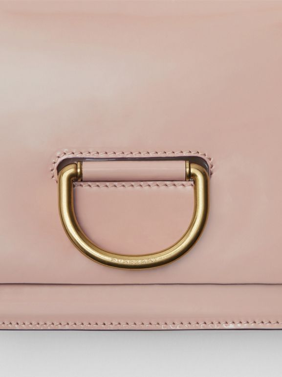 The Small Patent Leather D-ring Bag in Pale Fawn Pink - Women | Burberry United Kingdom - cell image 1