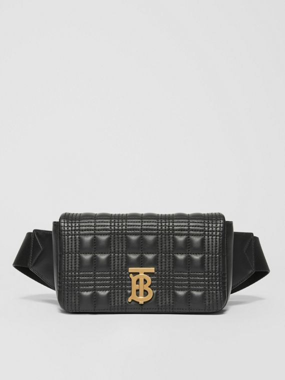 Quilted Lambskin Lola Bum Bag in Black