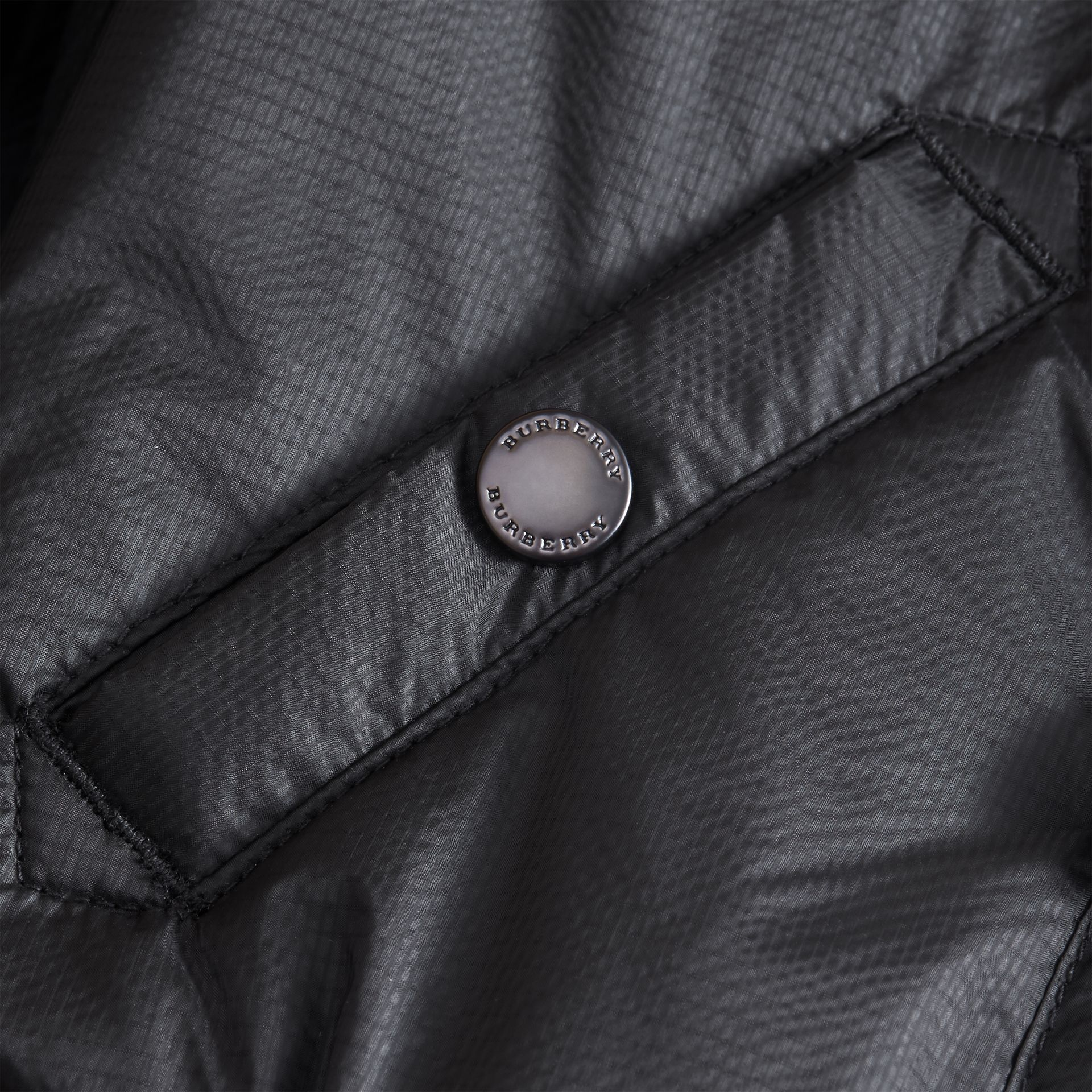 Hooded Lightweight Bomber Jacket in Black - Boy | Burberry - gallery image 2