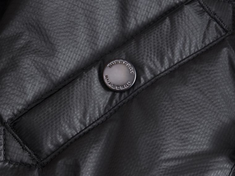 Hooded Lightweight Bomber Jacket in Black - Boy | Burberry Australia - cell image 1