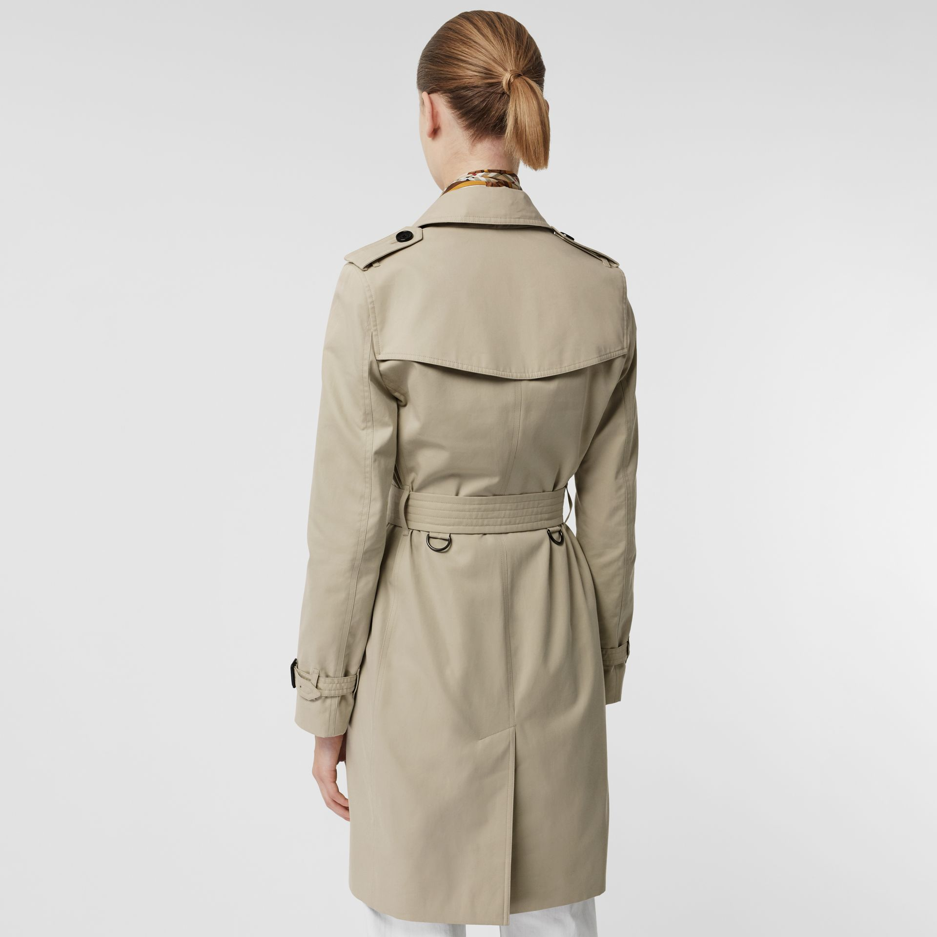 Kensington Fit Cotton Gabardine Trench Coat in Stone - Women | Burberry - gallery image 2