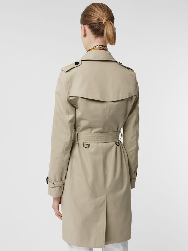 Kensington Fit Cotton Gabardine Trench Coat in Stone - Women | Burberry - cell image 2