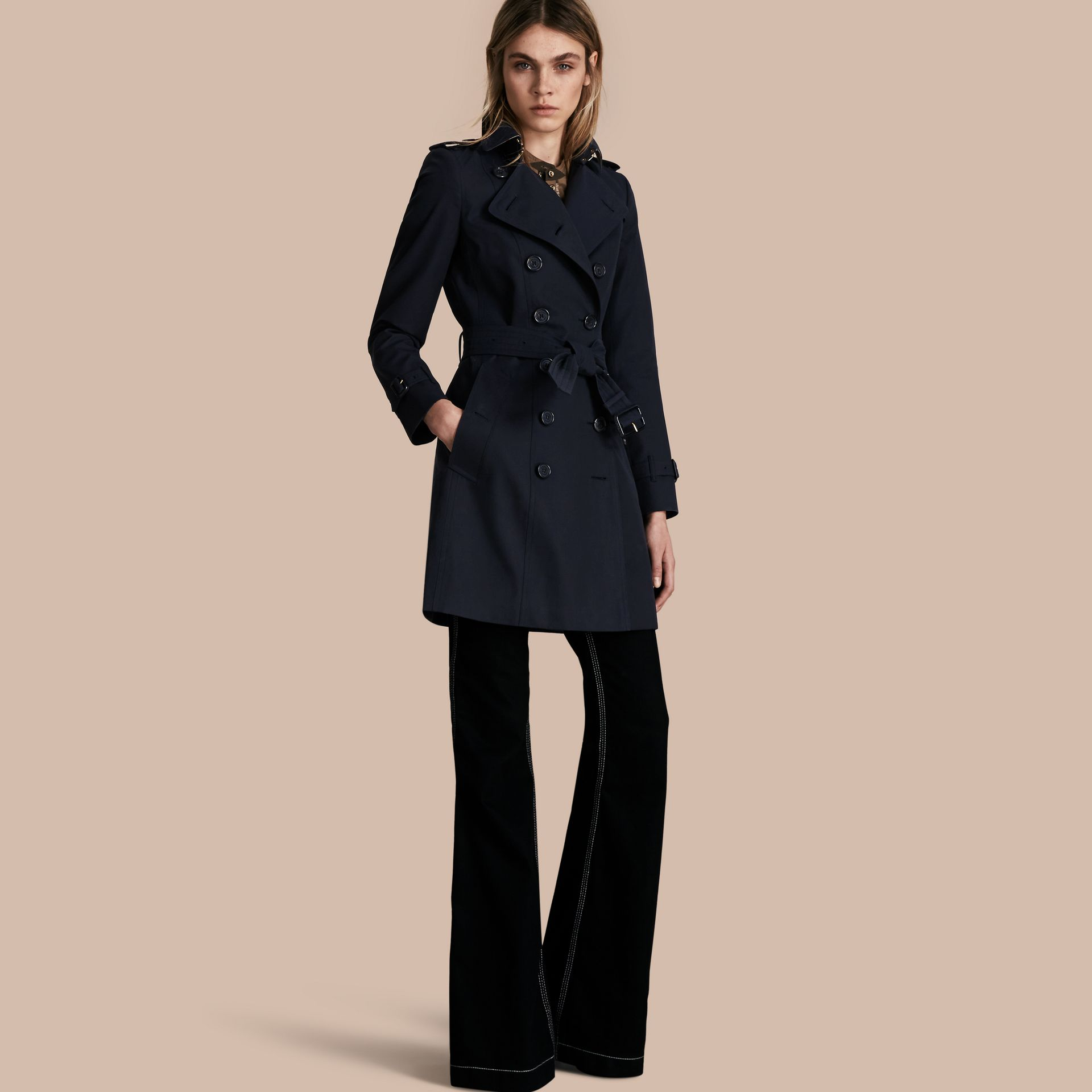 Navy The Chelsea – Mid-length Heritage Trench Coat Navy - gallery image 1