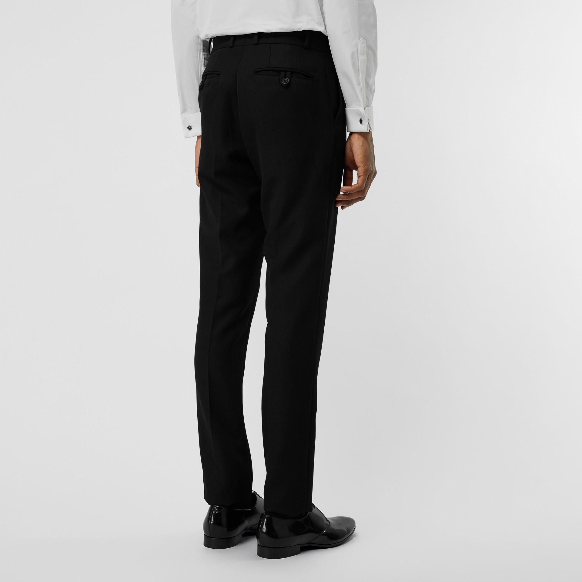 Soho Fit Bullion Stripe Wool Twill Tailored Trousers in Black - Men | Burberry - gallery image 2