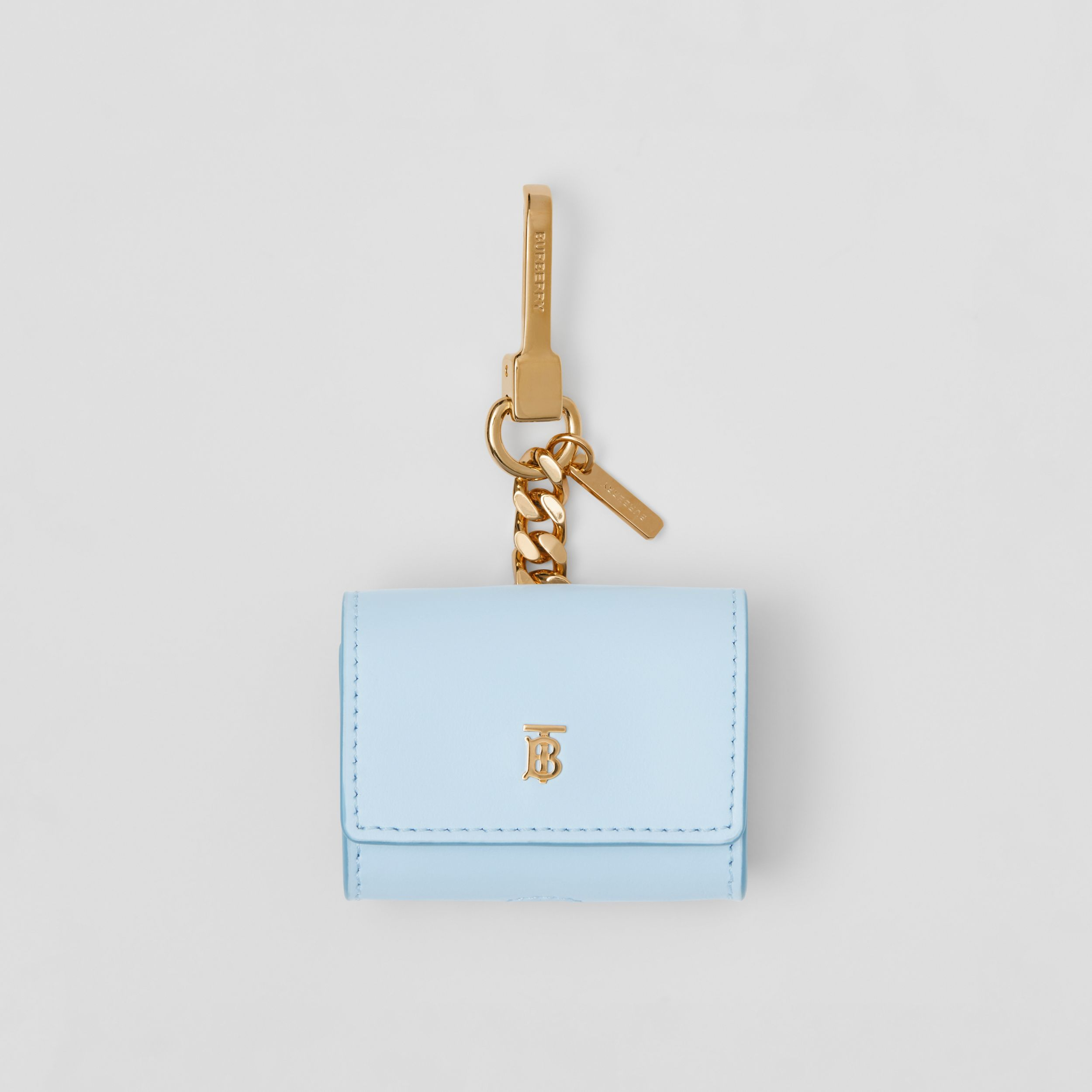 Leather AirPods Pro Case in Pale Blue | Burberry - 1