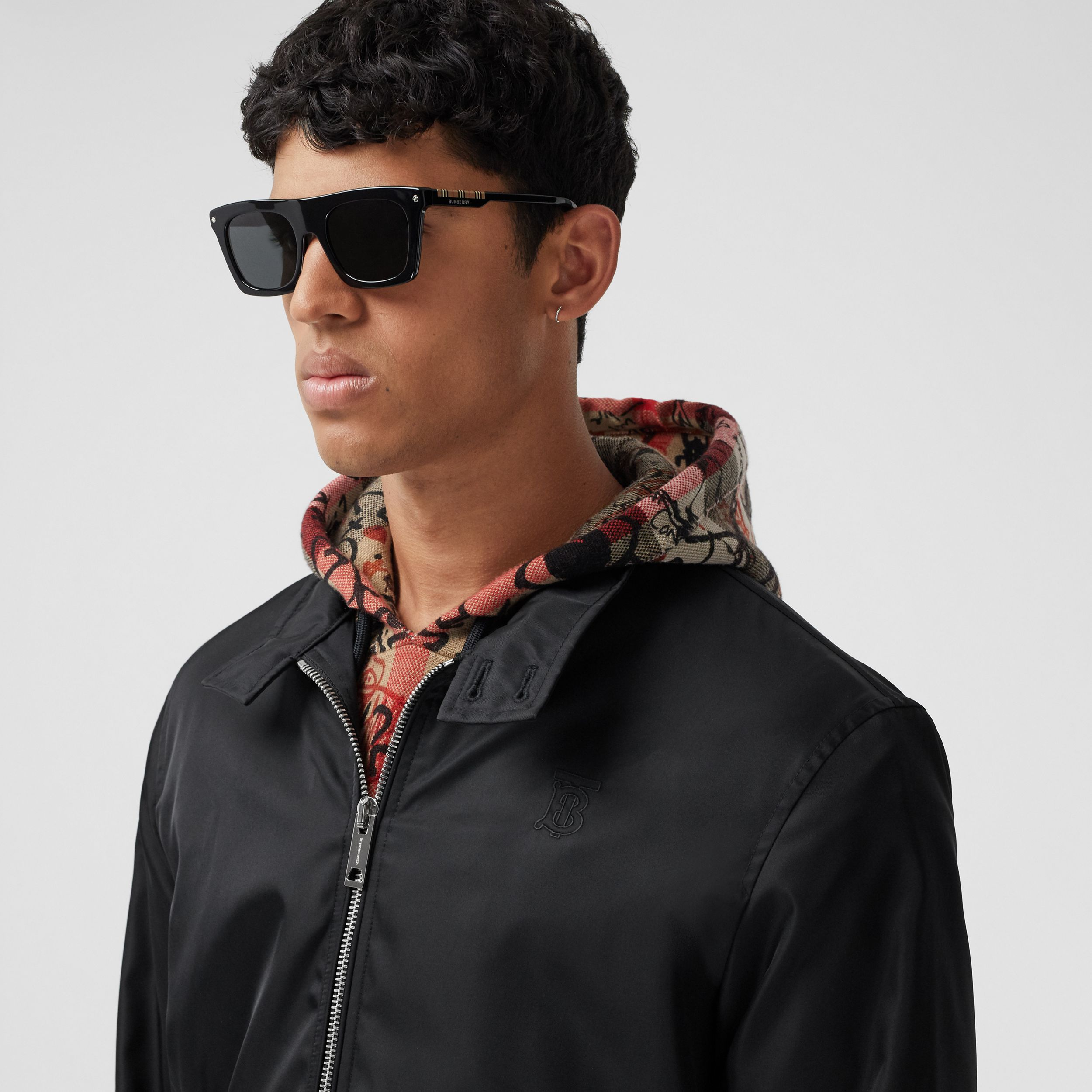 Monogram Motif ECONYL® Jacket in Black - Men | Burberry Australia - 2