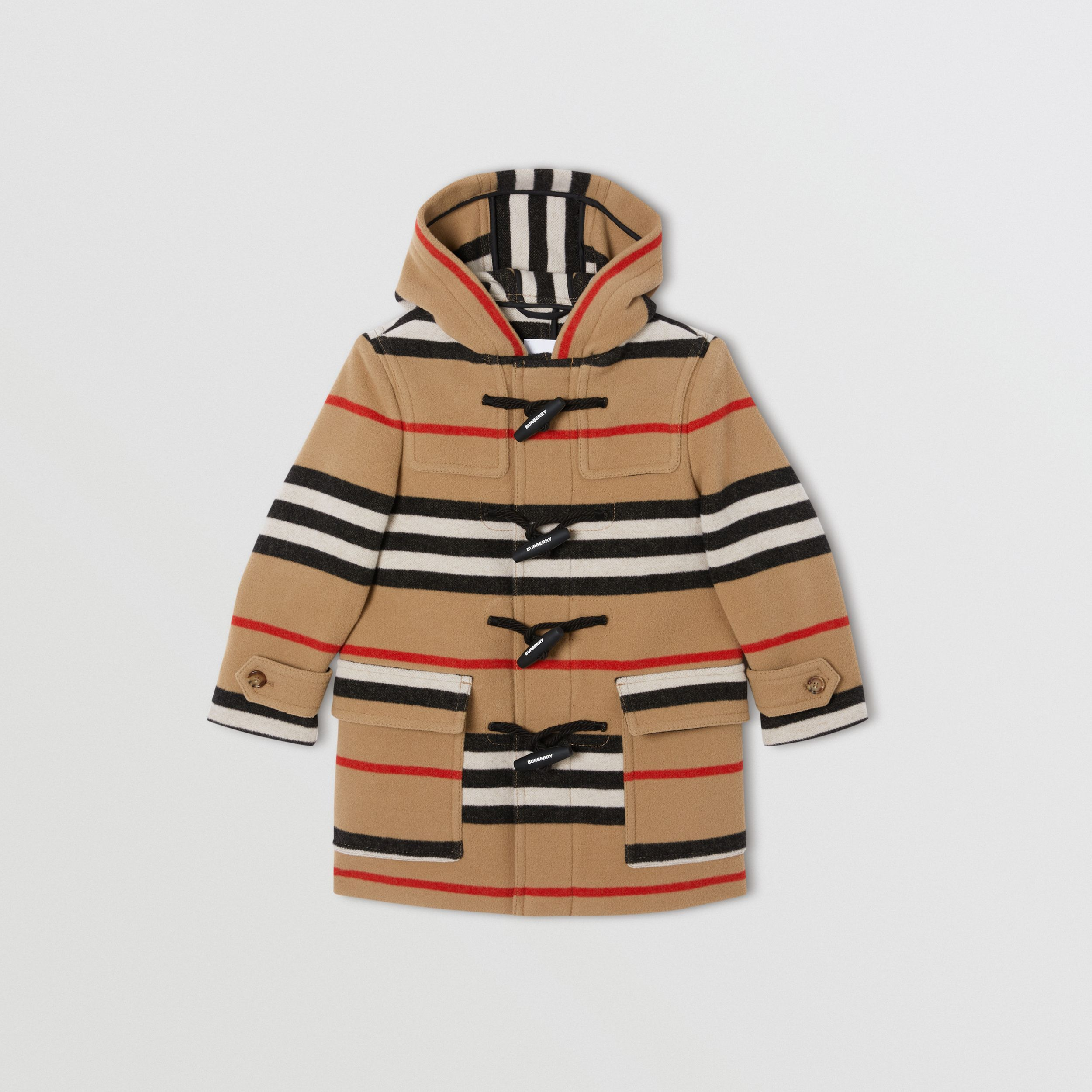 Duffle-coat en laine double face à rayures iconiques | Burberry Canada - 1