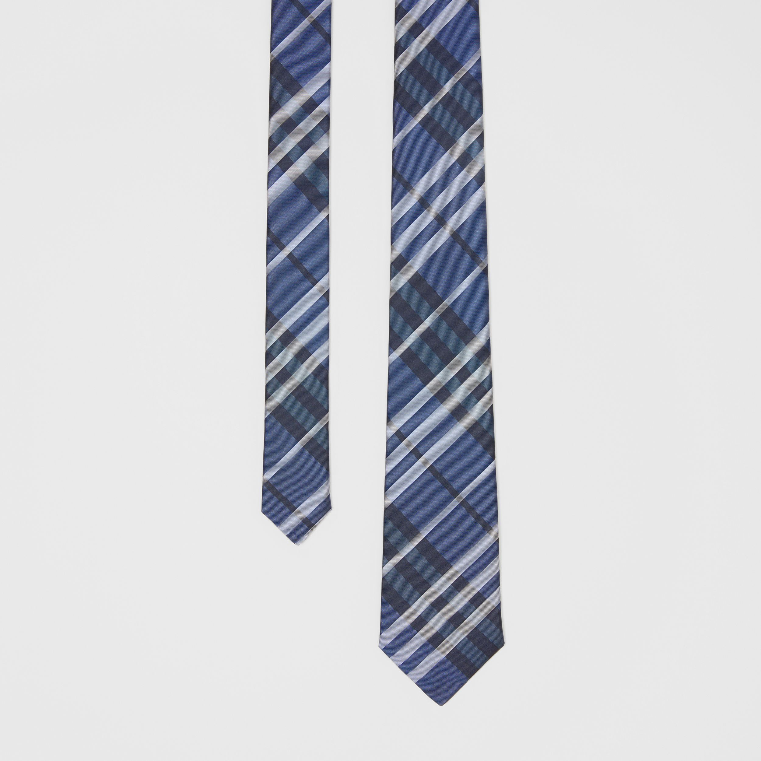 Classic Cut Vintage Check Silk Tie in Bright Navy - Men | Burberry - 1