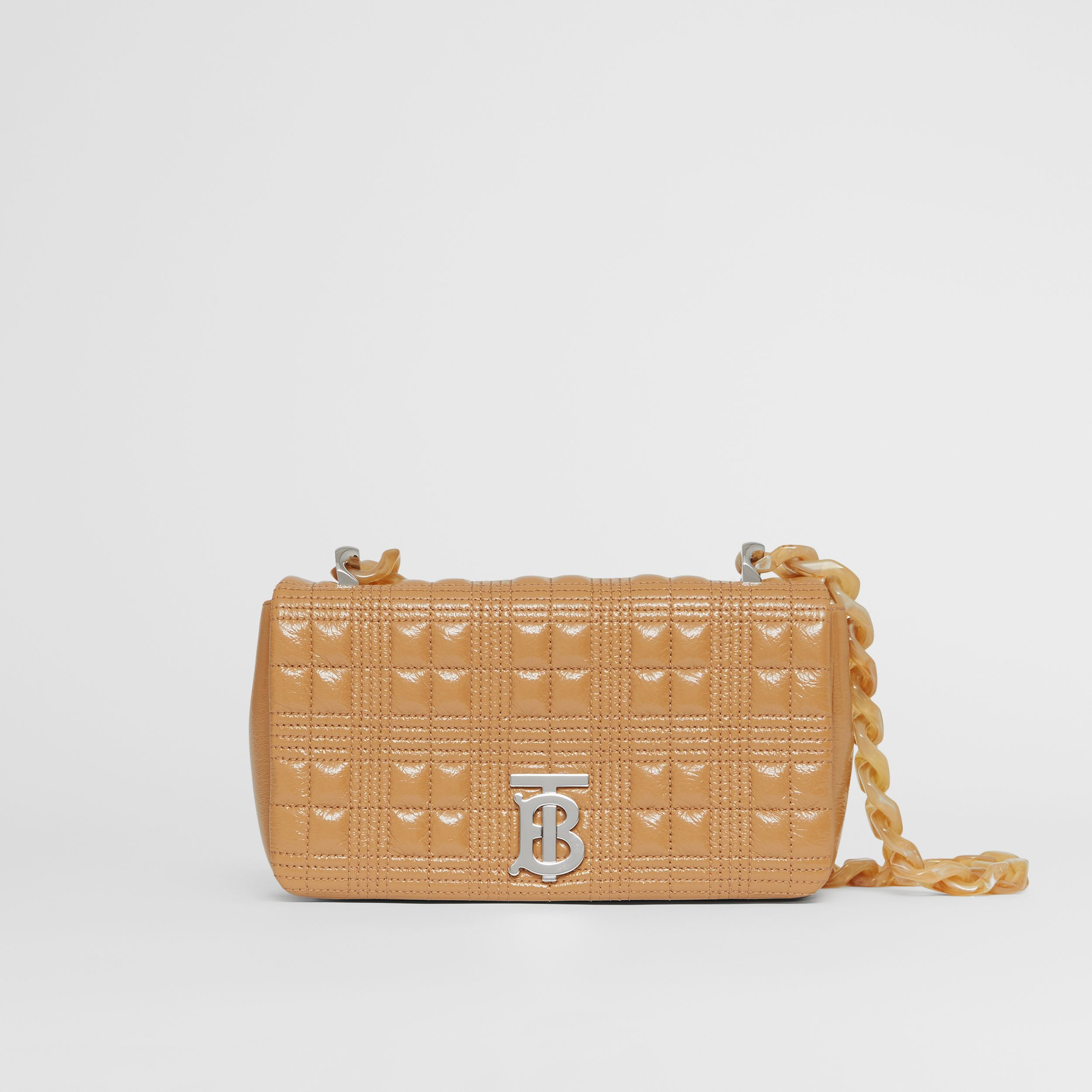 Small Quilted Lambskin Lola Bag in Camel - Women | Burberry United Kingdom - 4