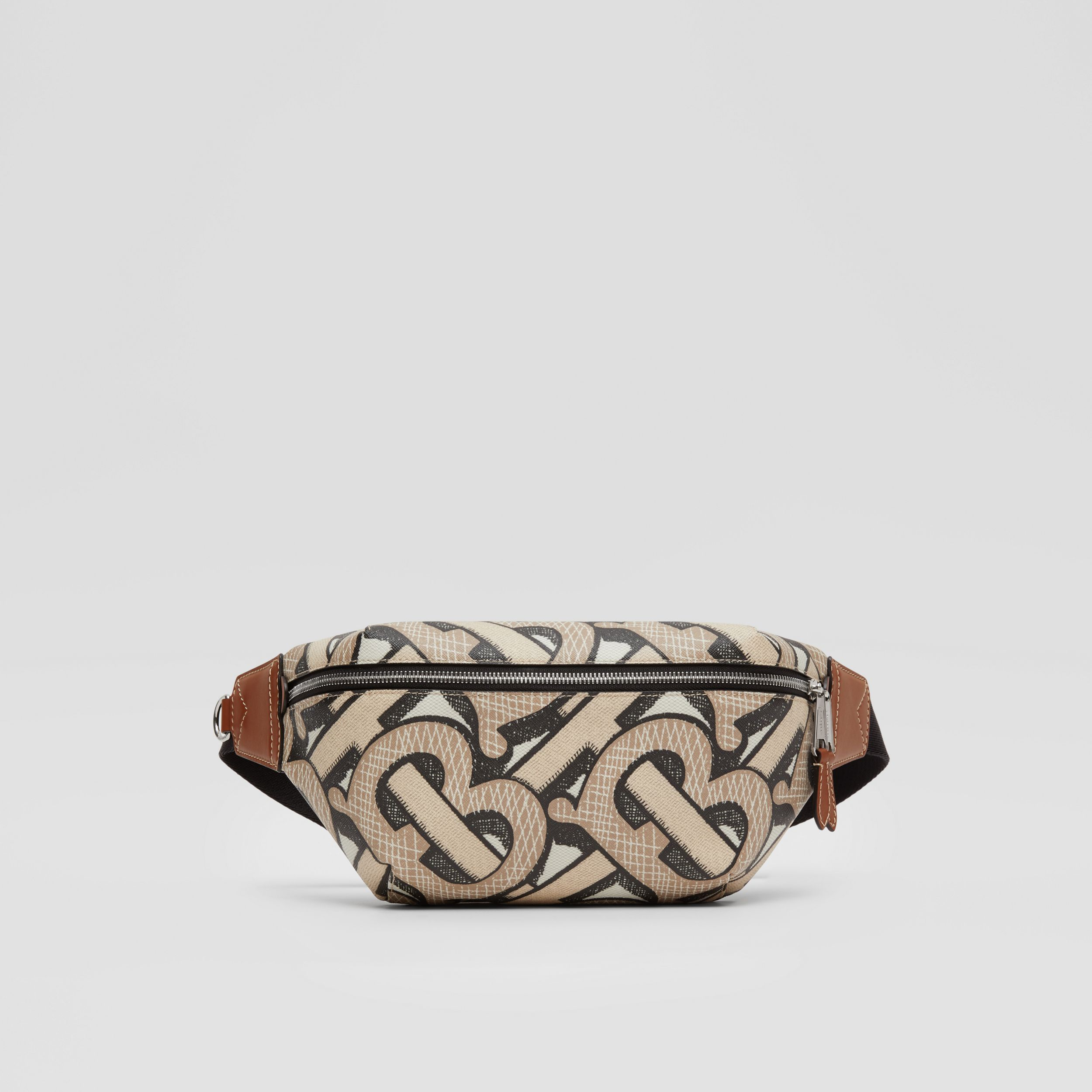 Monogram Print E-canvas Sonny Bum Bag in Dark Beige | Burberry - 1