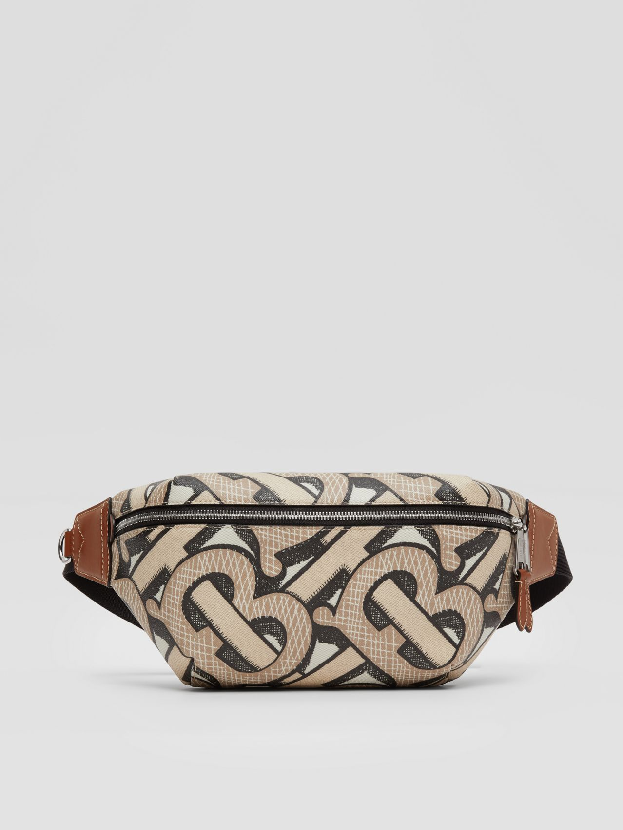 Monogram Print E-canvas Sonny Bum Bag (Dark Beige)