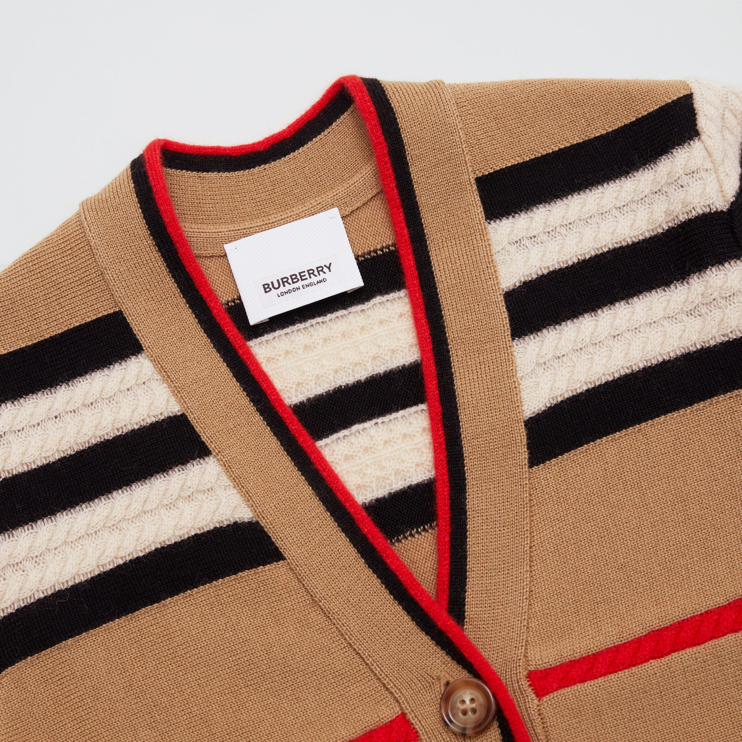 Icon Stripe Wool Cashmere Cardigan | Burberry - 2